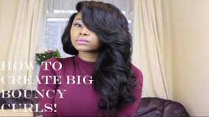 how to curl loose curls on a side ethnic hair chrissy bales deep side fringe w big bouncy curls youtube