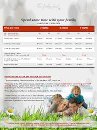 Family Packages 2016 Family Time Package Balkanjewel