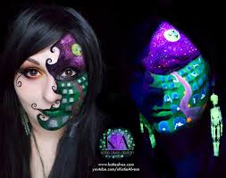 black light halloween scene with tutorial by katiealves on deviantart
