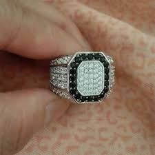 aliexpress buy mens rings black precious stones real colorfish genuine 925 sterling silver men s ring micro pave small