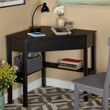 Corner Desk Overstock Simple Living Black Wood Corner Computer Desk With Drawer Office