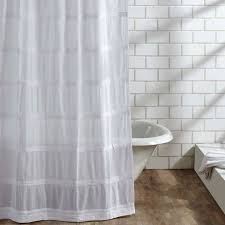shabby chic lacey shower curtain antique farmhouse