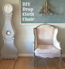 How To Reupholster A Wingback Armchair Reupholster With Drop Cloth Momtique Kendra Williams Diy