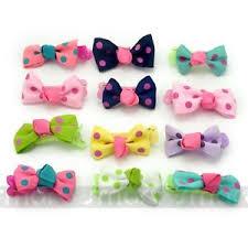 ribbon hair clip 20pcs mixed bowknot dot ribbon hair clip accessories for