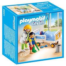 playmobil chambre b 6661 chambre d enfant avec médecin playmobil city playmobil