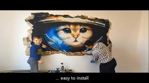 how to install realistic 3d mural on the wall harley davidson