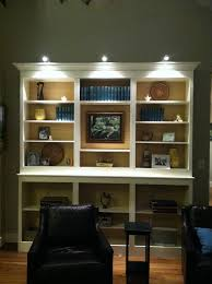 Bookcases With Lights Bookshelf Awesome Ikea Built In Bookcase Horizontal Bookcase