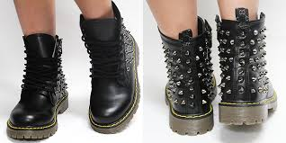 womens studded boots size 11 womens black studded boots