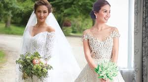 Beautiful Wedding Dresses The Most Beautiful Celebrity Wedding Dresses Of 2016 Cosmo Ph