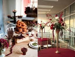 Red And Gold Reception Decoration 69 Dramatic Burgundy Wedding Ideas Happywedd Com