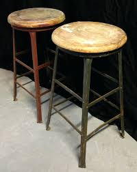 Industrial Metal Bar Stool Bar Stool Vintage White Metal Bar Stool Vintage Metal Bar Stools