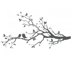birds on branch x free images at clker com vector clip