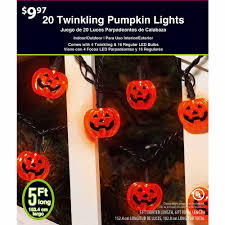 Halloween Light Bulbs by Twinkling Pumpkin Halloween Led Light Set Orange Walmart Com