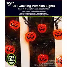 Pumpkin Halloween Lights Twinkling Pumpkin Halloween Led Light Set Orange Walmart Com