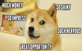 What Is The Doge Meme - much money so impress so shiny such nervous doge meme picsmine