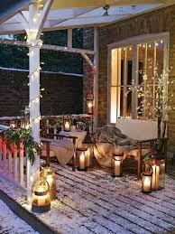outdoor decor exterior remarkable outdoor decor with small winter patio also
