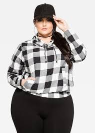 Black And White Plaid Shirt Womens Buy Womens Plus Size Plaid Shirts Ashley Stewart