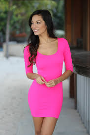 fitted dresses neon pink fitted top dress neon pink dress tops saved