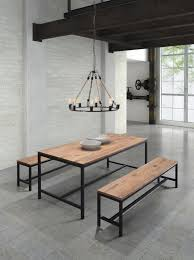 Wood Bench With Metal Legs 10 Alluring Wood Dining Table With Metal Legs That You U0027ll Love