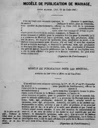 demander acte de mariage la tenue des registres de l état civil au 19e siècle généalogie