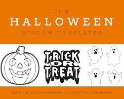 fun halloween window templates crafty croc