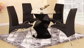 Black Gloss Dining Room Furniture Contemporary Black Dining Room Sets Montserrat Home Design