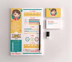Infographic Resume Template Free Free Infographic Resume Template For Graphic Designers Illustrators