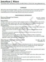 Marketing Resumes Sample Resumes University Career Services