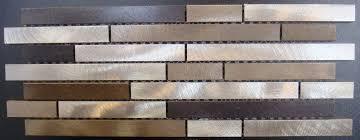 Brushed Stainless Steel Backsplash by Metallika Champagne Mix Flooring Finesse
