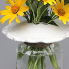 Frog Flower Vase Handmade Pottery Mason Jar Flower Frog Top By From Miry Clay Pottery