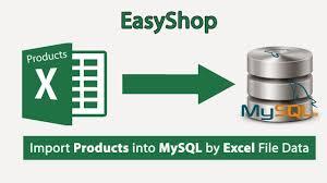 laravel tutorial exle easyshop import products into mysql excel file data shopping