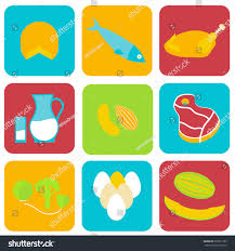 salmonella contaminated food icons stock vector stock vector