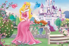 aurora birthday card sleeping beauty instant download