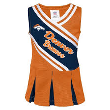 Denver Broncos Cheerleader Halloween Costume Denver Broncos Infant Toddler Cheerleader Dress Target