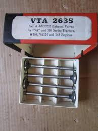case vac 300 nos exhaust valves vta2635 vt3233 old stock tractor