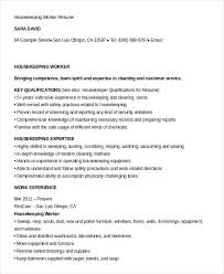 Resume Sample For Housekeeping by Housekeeping Resume Example 9 Free Word Pdf Documents Download