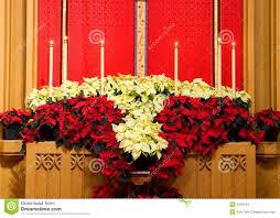 church altar with poinsettias stock photo image 4070104
