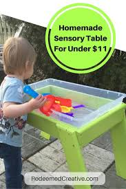 how to build a sensory table homemade child sensory table for under 11 redeemed creative