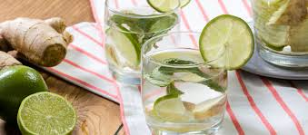 lime fruit water infused with ginger lime and mint eatme eu