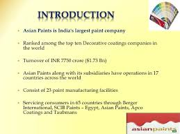 asian paint final ppt