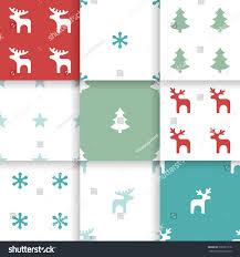 set scandinavian trend seamless winter pattern stock vector