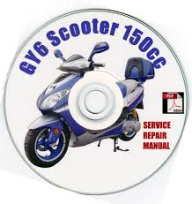 chinese scooter 150cc 150 gy6 service repair shop manual on cd