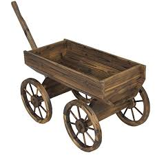 best choice products patio garden wooden wagon