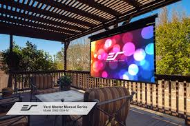 yard master manual series outdoor projector screens elite screens