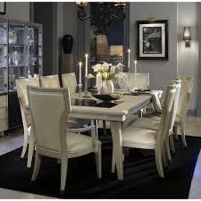 michael amini dining room 7 299 00 beverly blvd pearl caviar 10 pc leg dining set by