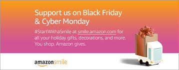 when amazon black friday support us when you shop on black friday and cyber monday happy
