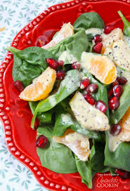 pomegranate clementine spinach salad a gorgeous salad for winter