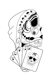 Card Tattoos Designs Gypsy With Skull Cards Ideercreatives