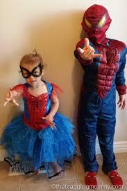 Man Halloween Costume Spider Man U0026 Spider Costumes Review Sibling Halloween