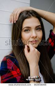 commercial actress with mole on face long hair woman mole on face stock photo 562658098 shutterstock